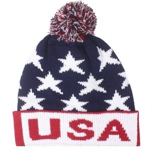 Other - AMERICAN FLAG WINTER BEANIE  HAT CAP MEN WOMEN